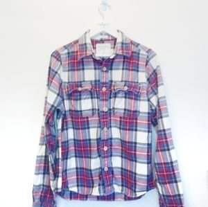 Abercrombie & Fitch Muscle Fit Plaid Flannel Shirt